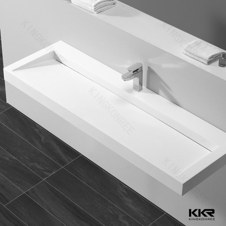 Narrow bathroom sink
