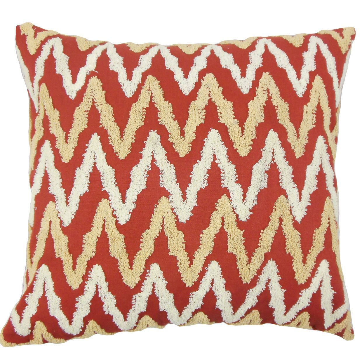 Chavi Down and Feather Filled Throw Pillow with Hidden Zipper Closure 18-inch
