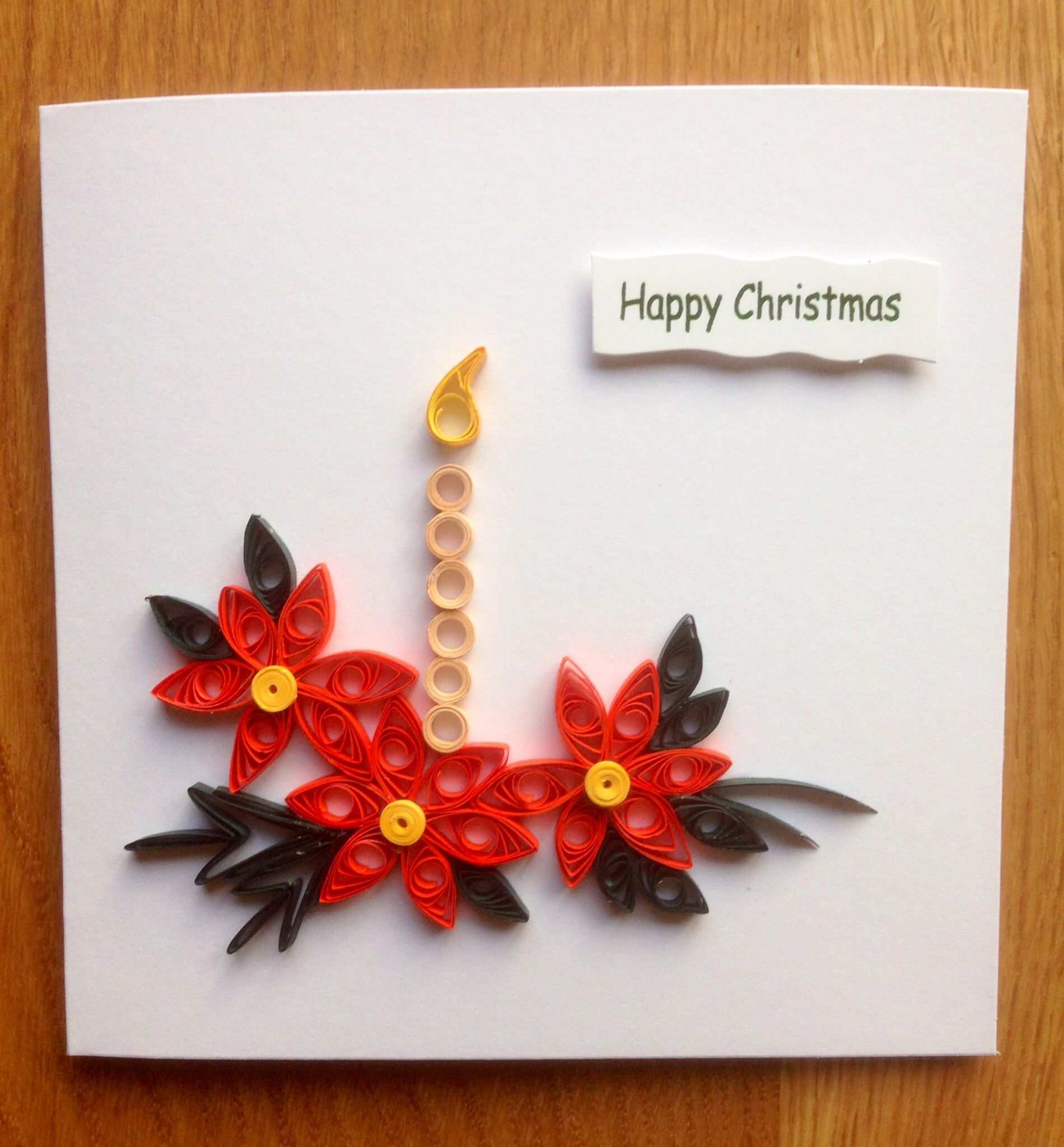 quilling christmas card 2013 christmas pinterest. Black Bedroom Furniture Sets. Home Design Ideas