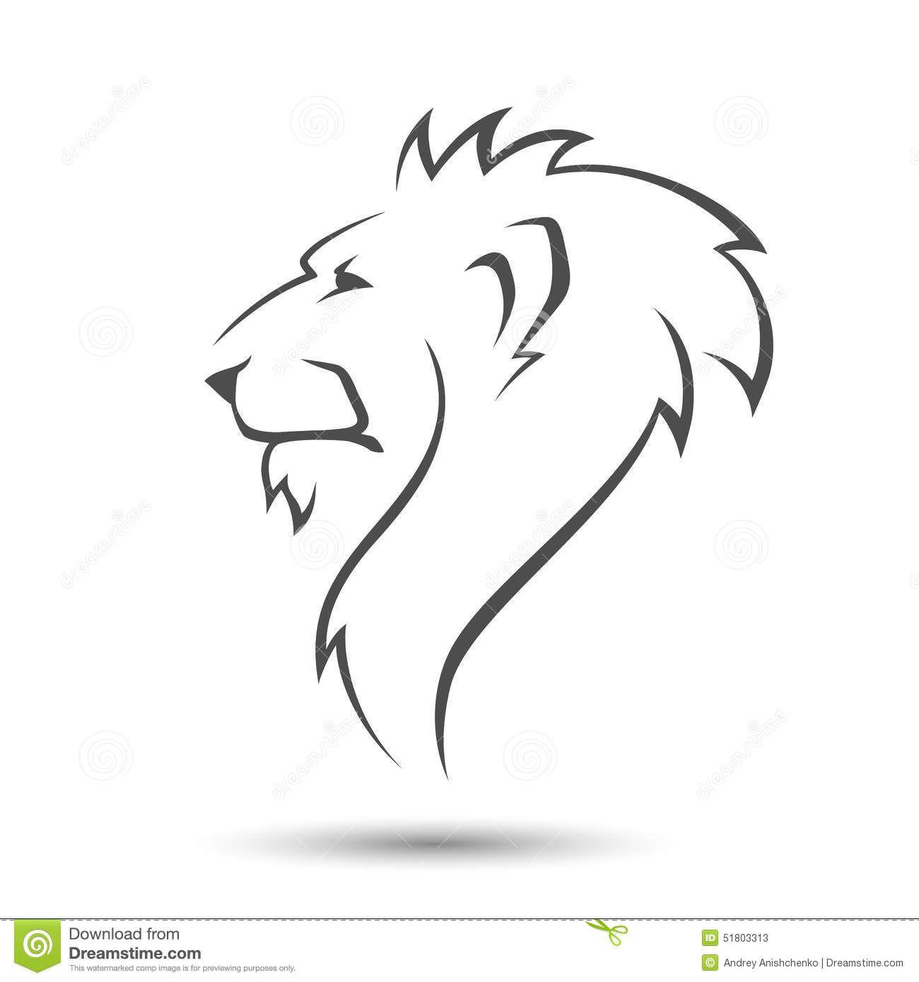 Pin By Vladimir Kolesnikov On Zeichnungen Lion Head Tattoos Lion Sketch Simple Lion Tattoo