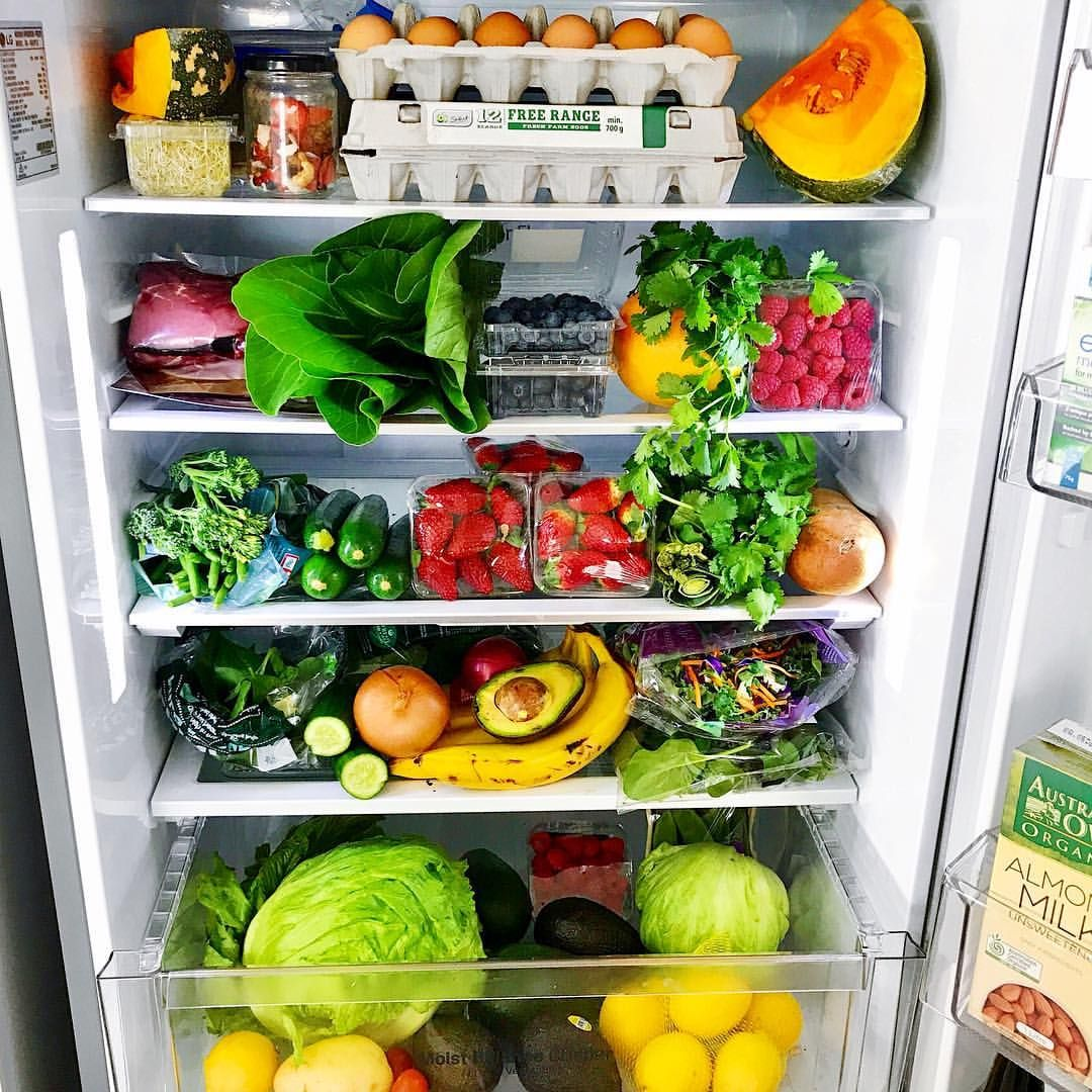 las verduras en el refrigerados