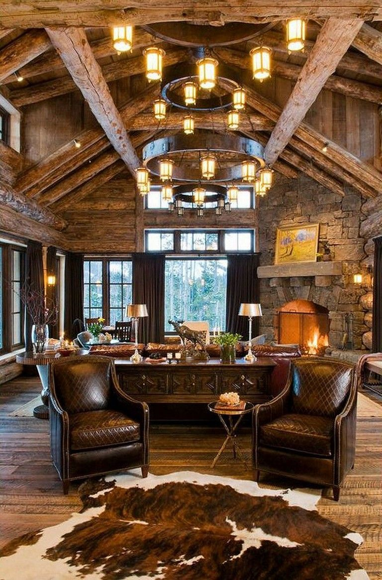 25 Modern Rustic Lake House Decorating Inspiration Decor Decoration Decoratingideas Rustic Living Room Design Living Room Decor Rustic Rustic Lake Houses