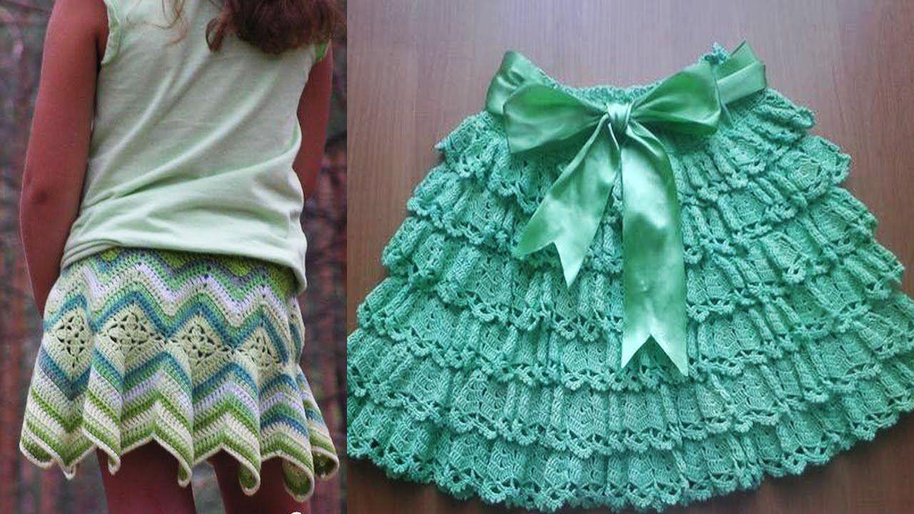 Faldas Para Niña Tejida a Crochet
