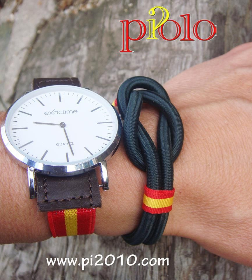 910a21a1e56b Combinación pulsera nudo nylon y reloj correa elástica http   www.pi2010.