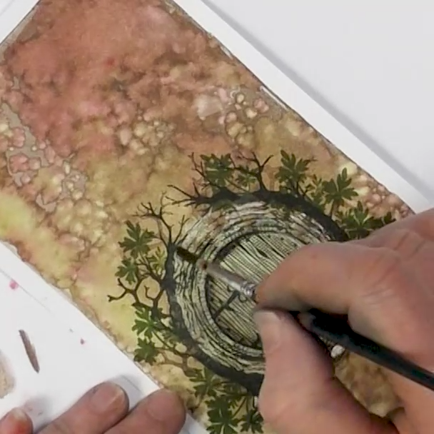 Hobbit Home - A Lavinia Stamps Tutorial