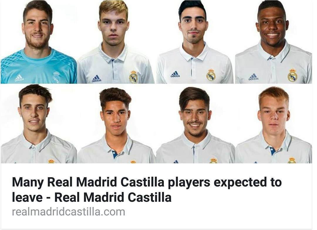Many Realmadridcastilla Players Are Expected To Leave More Realmadridcastilla Com Real Madrid Castilla Real Madrid Madrid