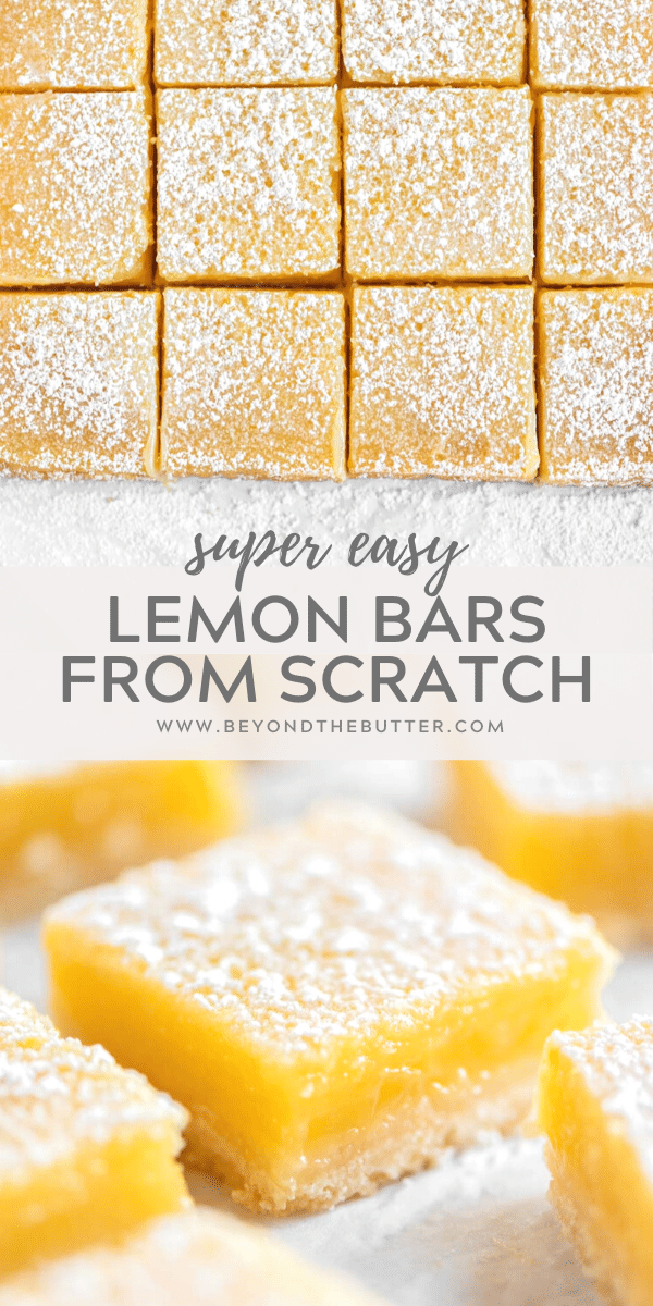 Tart and Tangy, Super Easy Lemon Bars