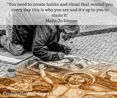 Habits Ritual Mary-Jo Dionne QuoteSm