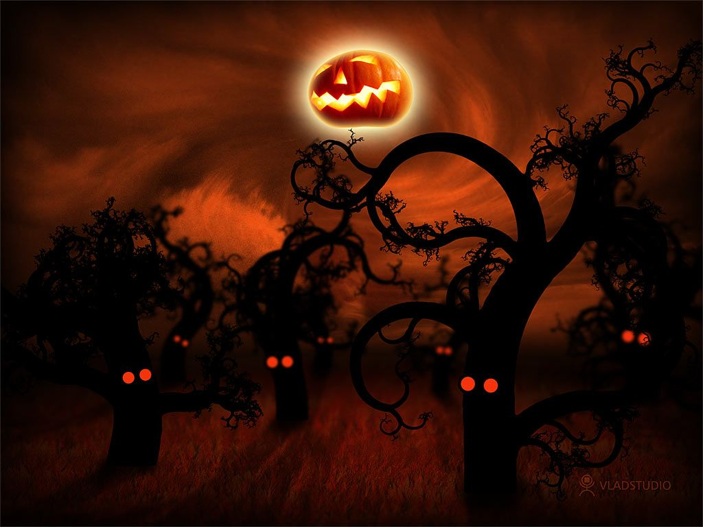 Elegant Scary Halloween | Free Halloween 3D Background Image