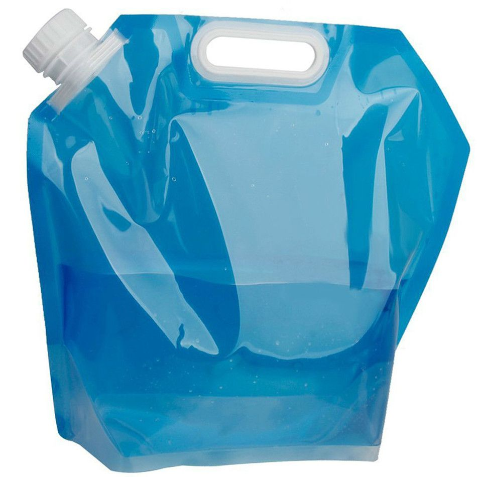 5L Folding Water Storage Bag Lightweight Plastic Collapsible Carrier