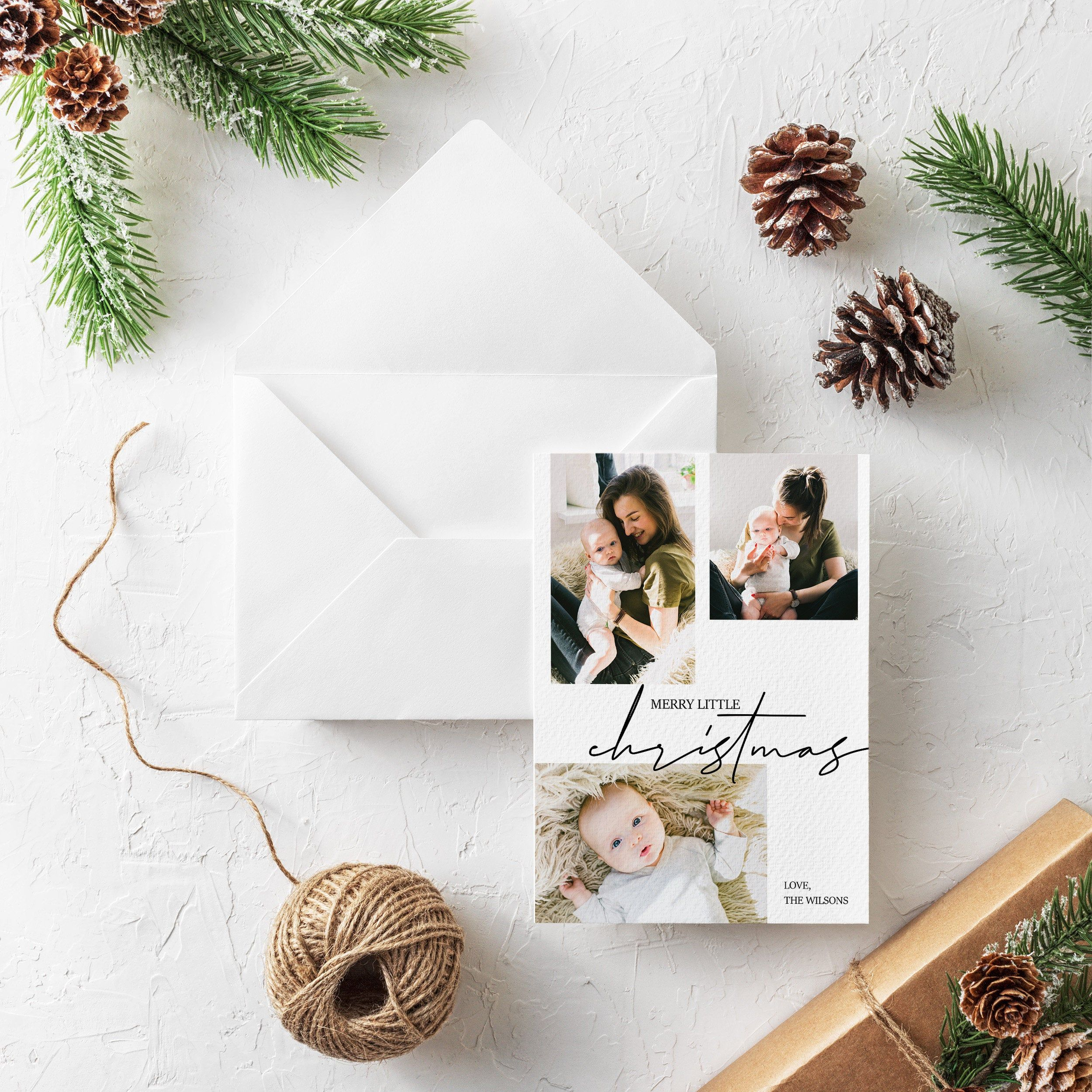 Merry Little Christmas Digital Card Holiday Festive Printable