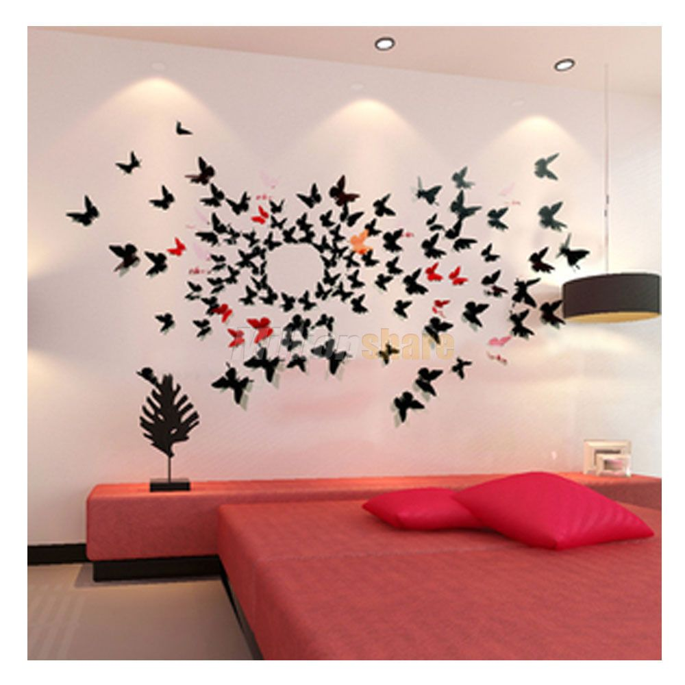 Ordered 3d Butterfly Pattern Wall Sticker Small Wall Decor Stickers Wall Stickers Home Decor Paper Decorations Diy