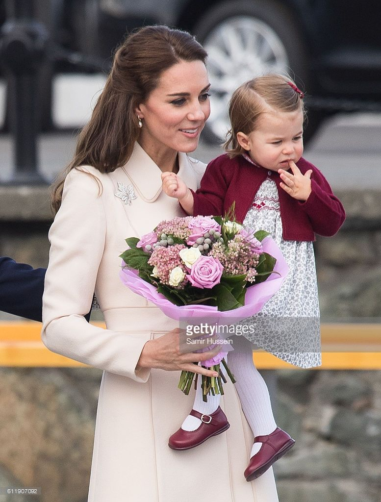 Catherine, Duchess of Cambridge Princess Charlotte of Cambridge depart Victoria on October 1, 2016 in Victoria, Canada.