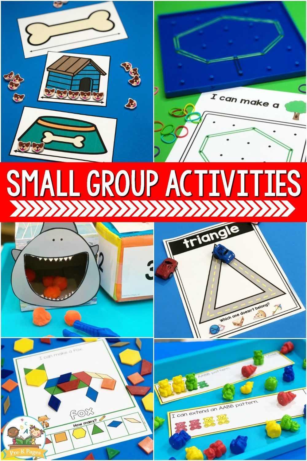 Small Group Activities for Preschool PreK Pages in 2020