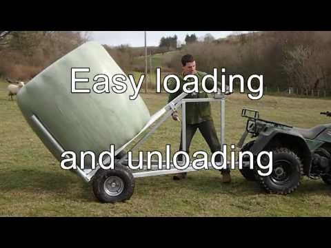 Easylift Bale Trailer Moving Bales Made Easy Youtube Welding