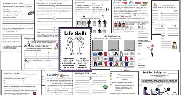 I Have Posted A Few Of My Life Skills Worksheets In The Past And