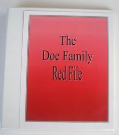 Emergency Kits - Red File