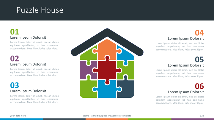 Strre multipurpose powerpoint template template strre multipurpose powerpoint template puzzle house diagram toneelgroepblik Choice Image