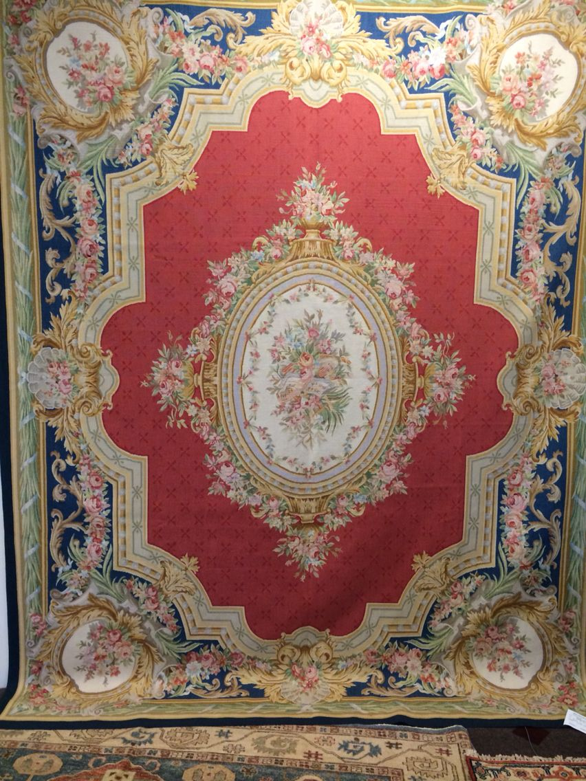 French Aubusson 8x10 And made 100% wool