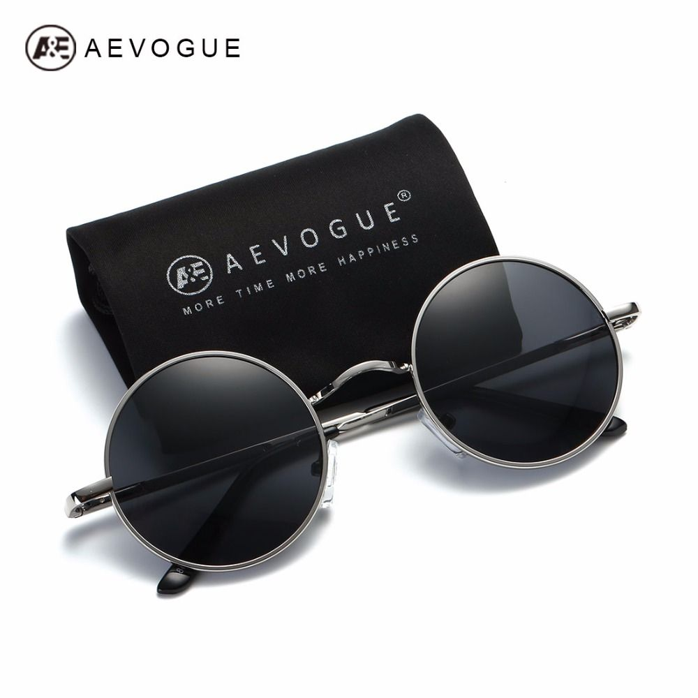 Aevogue gafas de sol polarizadas para hombres mujeres pequeñas y redondas  estilo unisex gafas de sol uv400 marco de la aleación de verano ae0518 en Gafas  de ... f4f307d310