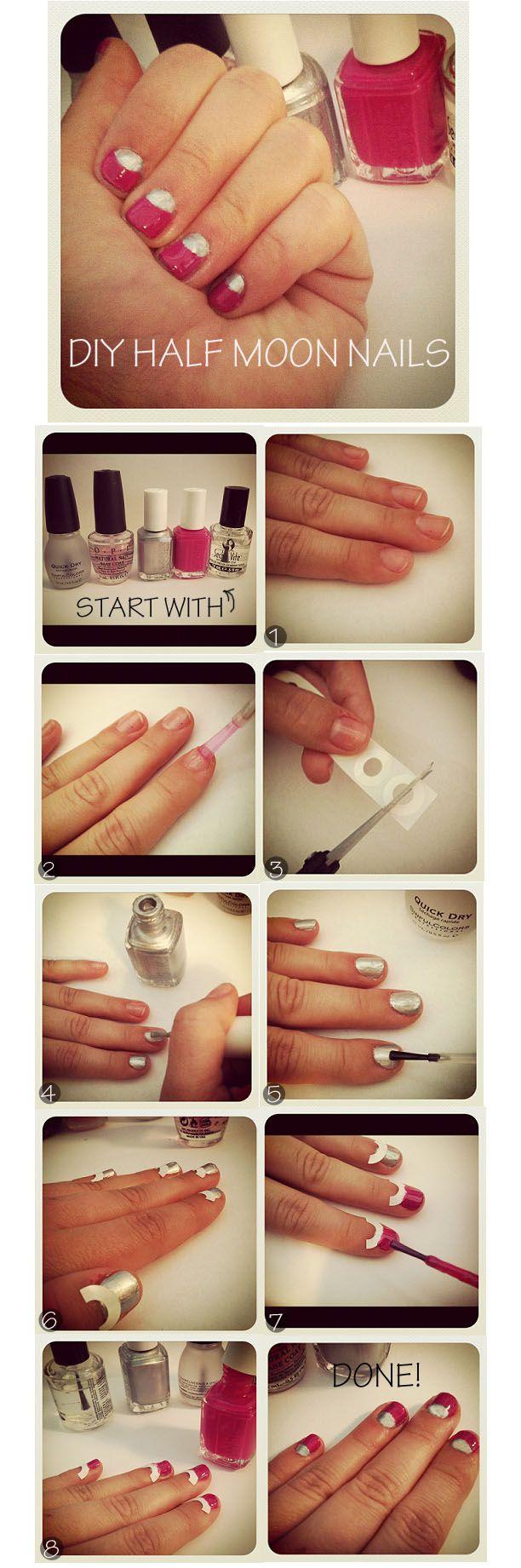 DIY Half Moon Nails