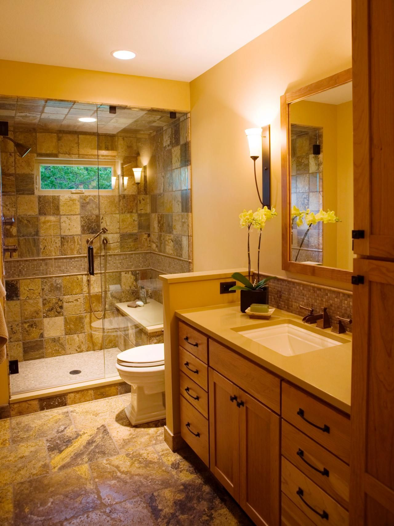 Full Bathroom Designs Prepossessing Threequarter Bathrooms  Bath Remodel Bathroom Designs And Hgtv Design Decoration