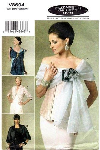 Elizabeth Gillett Evening Wraps Jackets Shrug Shawl Easy To Sew