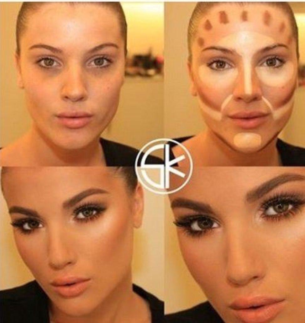 Pin by trkan on makyaj pinterest makeup beauty and make up contour face contouring tutorialface contouringmakeup baditri Image collections