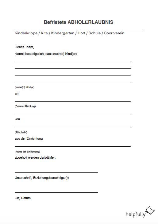 Vollmacht Abholung Fill Out And Sign Printable