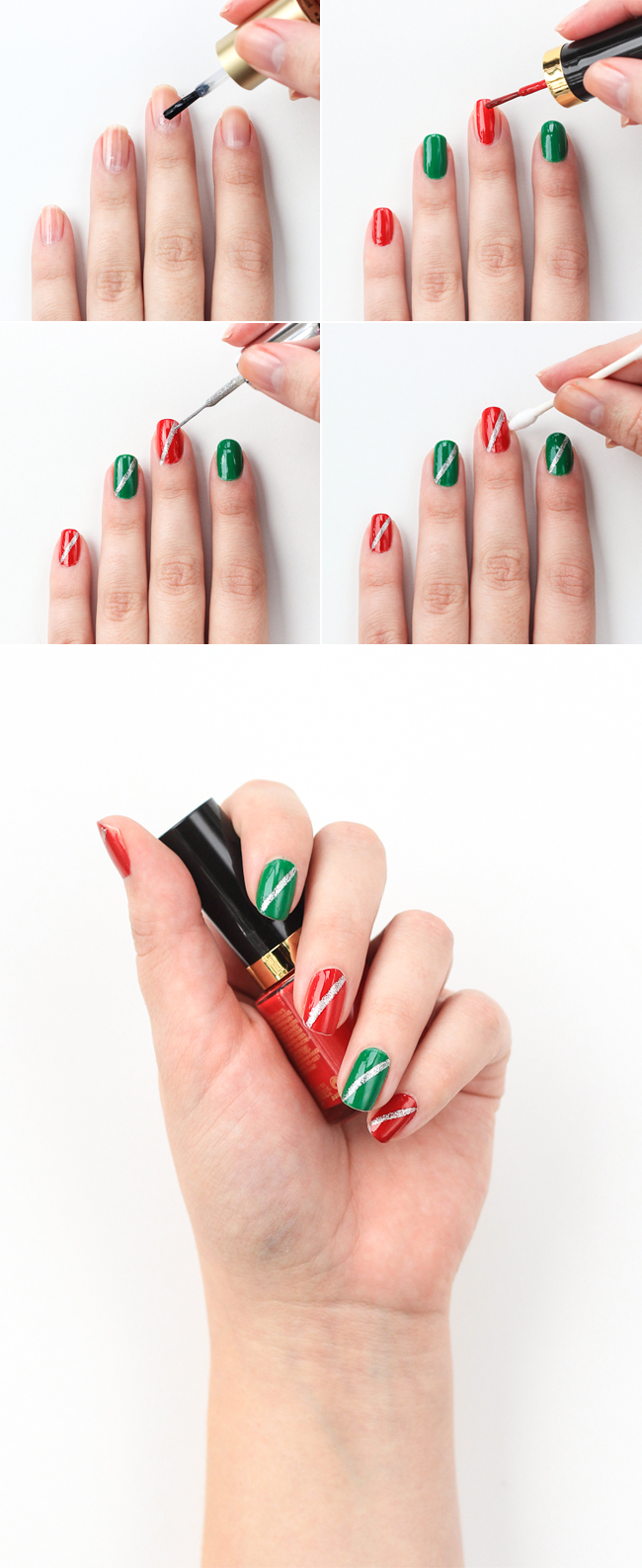 Super easy holiday manicure!