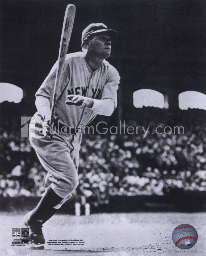 Babe Ruth Batting Action At The Stadium Babe Ruth Nationals Baseball New York Yankees