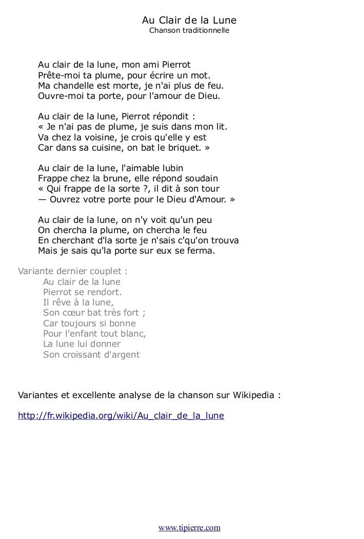 Sur La Lune Parole : parole, Paroles, Chansons, Clair, Lune,, Chanson, Traditionnelle, Française, Chansons,, Chanson,, Comptines