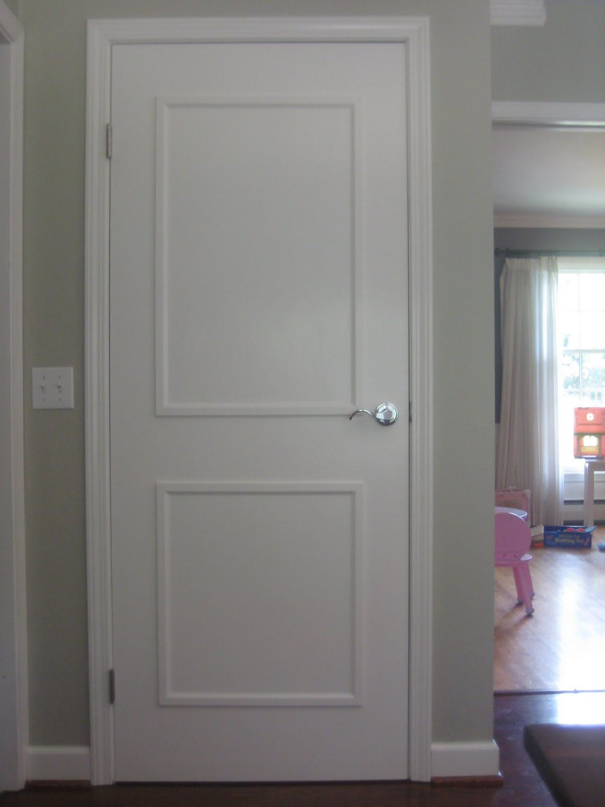 Plain White Door paint in my hair: adding molding and paint to 60s brown flat plain