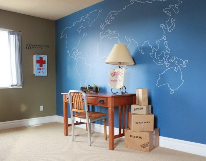 images home office ideas using maps World Maps Art in Home