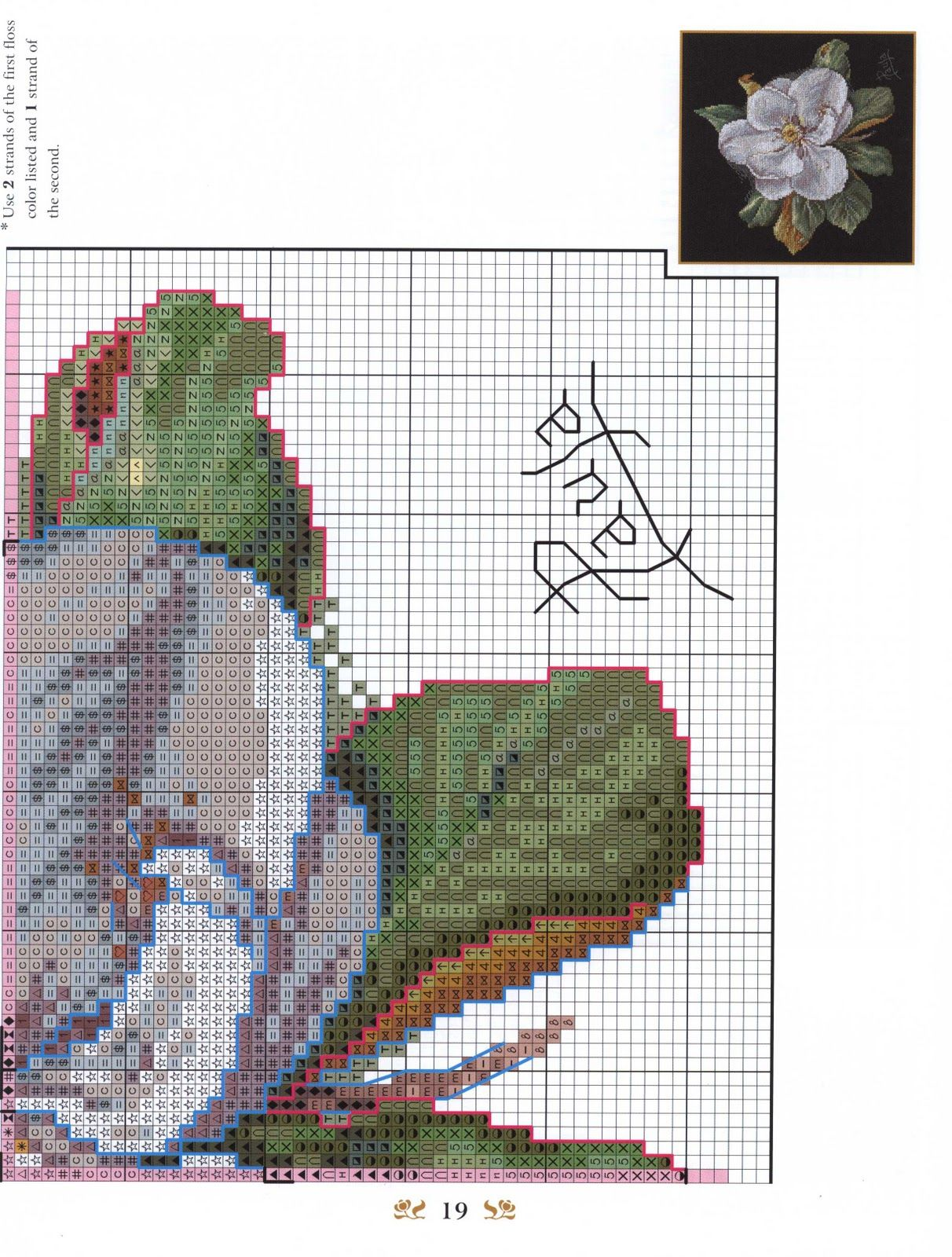 Needle-Works Butterfly: Cross stitched pillows with pattern