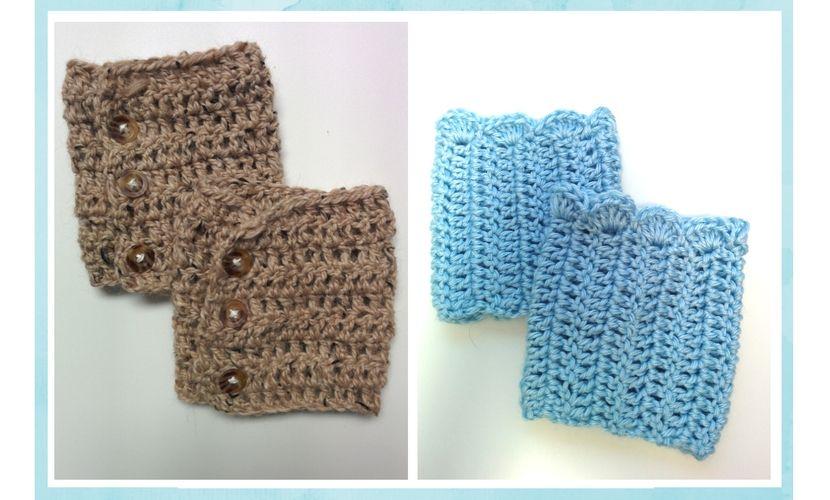 FREE Patterns: Crochet Boot Cuffs (2 versions)