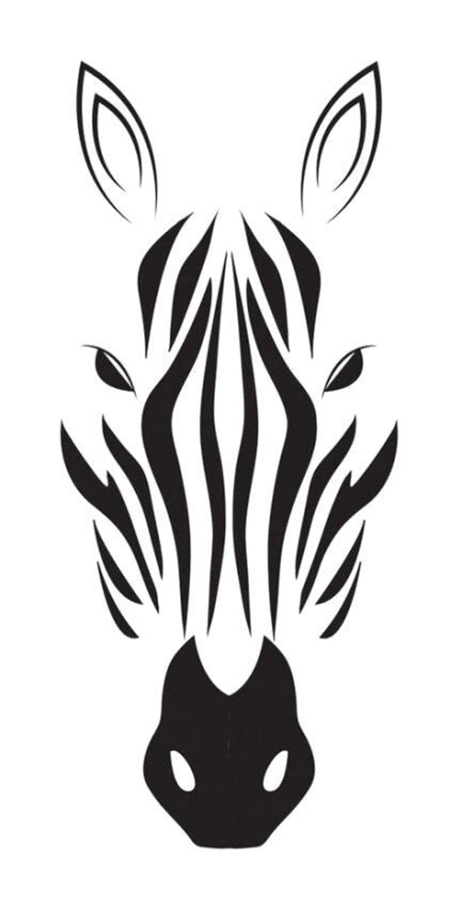 Zebra Face Svg Png Jpg Cricut Silhouette Zoo Animal In 2020 Zebra Drawing Zebra Face Stencil Art