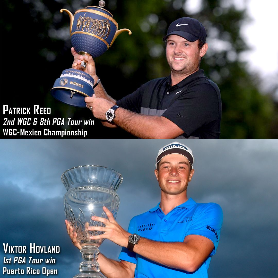 Congratulations To This Weekend S Winners Patrick Reed Who Earned His 2nd World Golf Championship Title At The Wgc Mexico Champio In 2020 Pga Tour Career College Golf