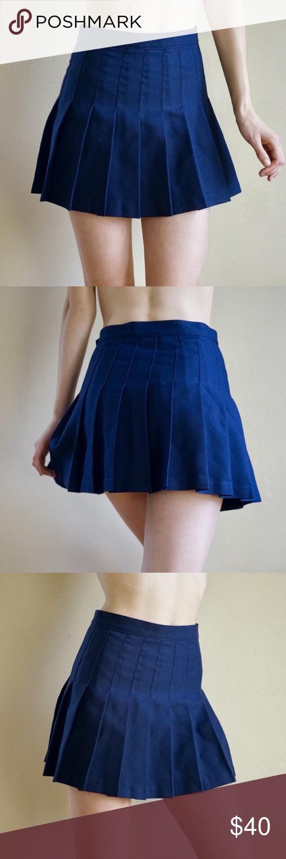 dc6156f62b Navy blue American Apparel tennis skirt Navy blue American Apparel high  waisted pleated tennis skirt.