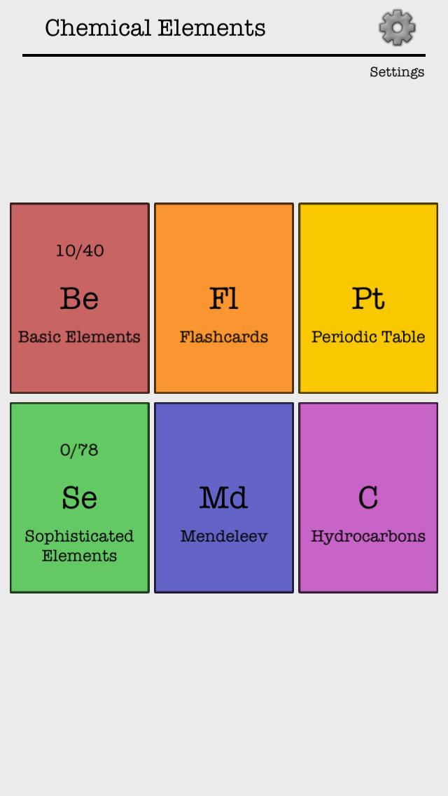 Iphone app chemical elements of the periodic table name quiz and iphone app chemical elements of the periodic table name quiz and flashcards games educational 4 099 now free you urtaz Choice Image