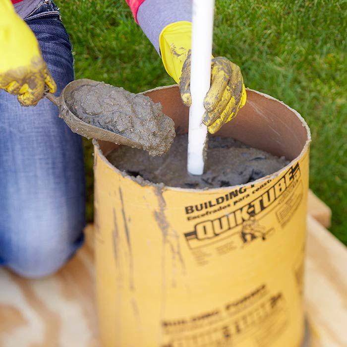 Add Concrete Mix To The Form Concrete Fountains Concrete Molds Concrete Diy