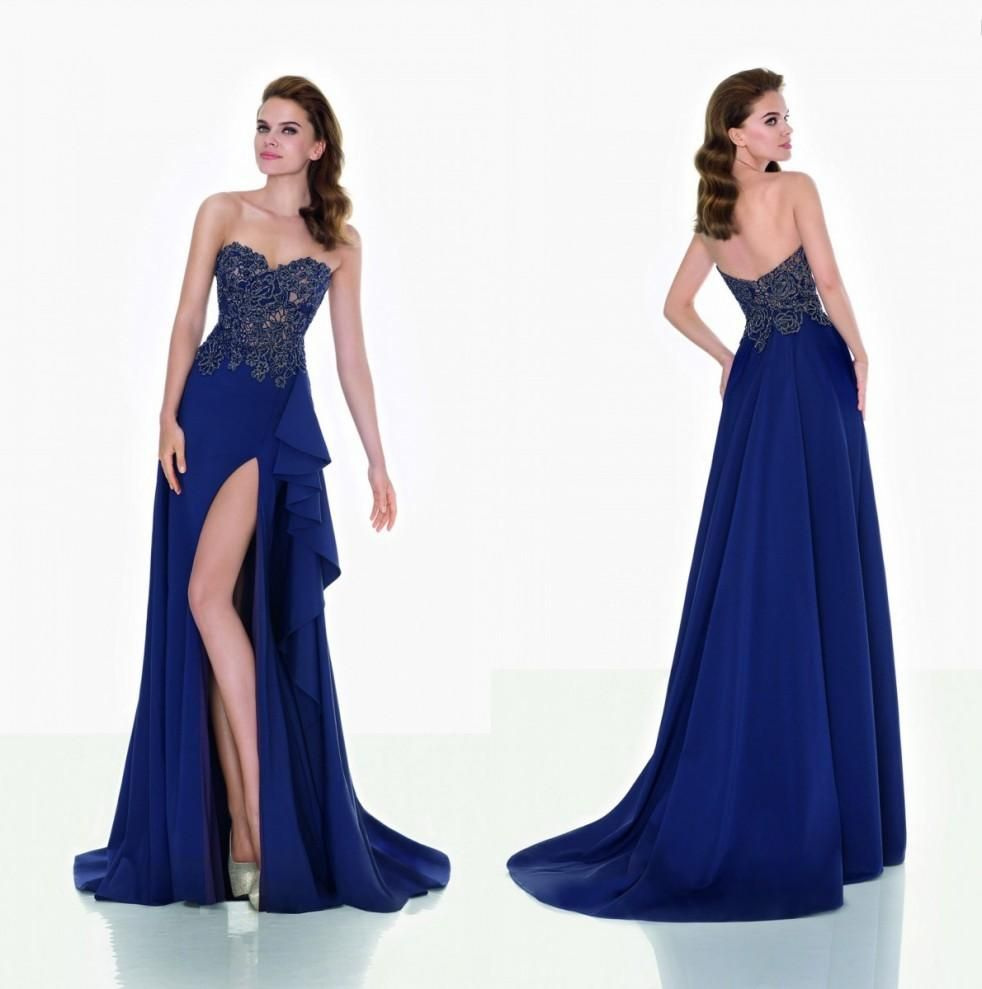 Tarik ediz dresses split evening dresses sheer lace sweetheart