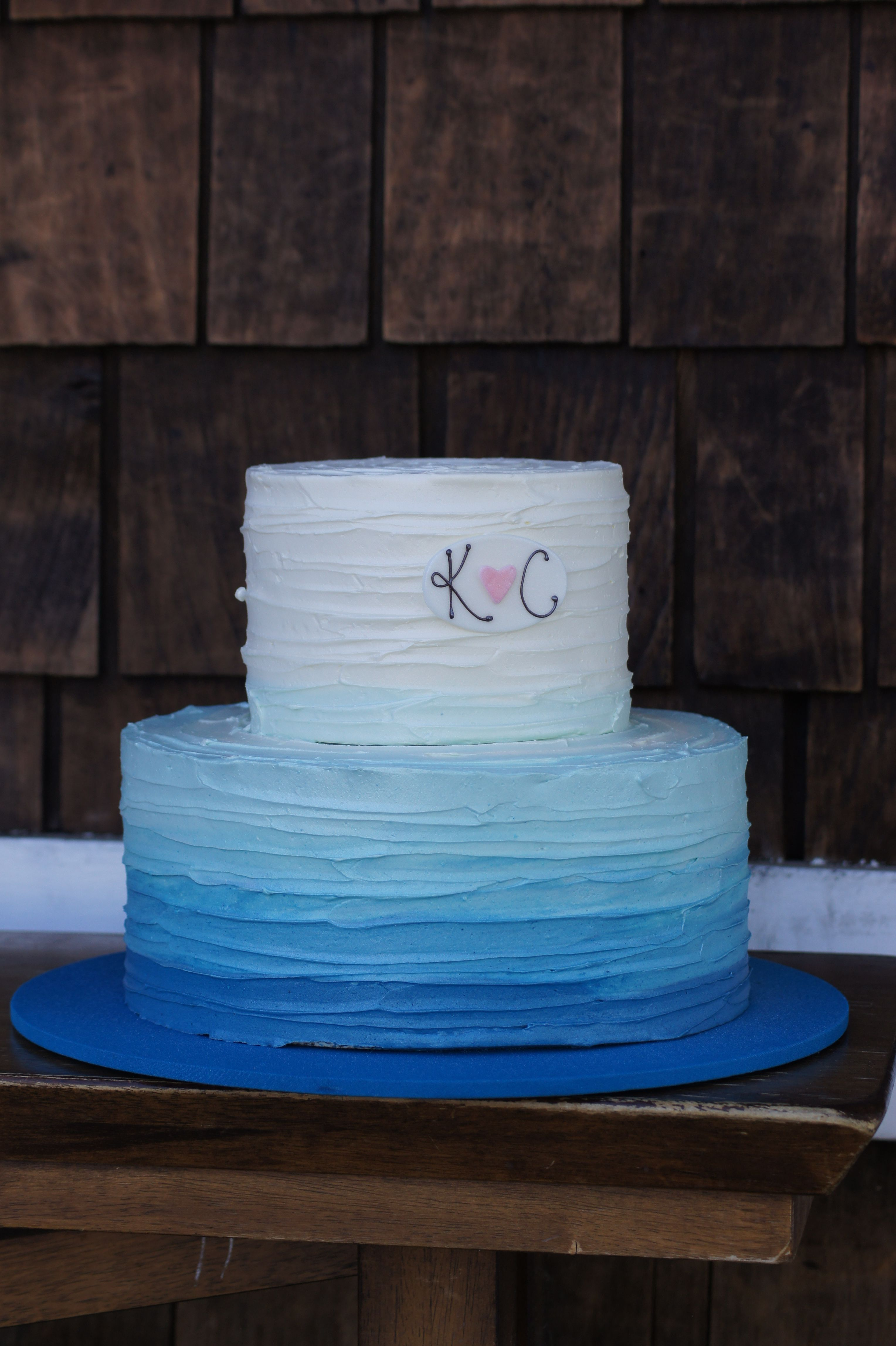 The blue cake company wedding cakes birthday cakes 2016 car release - Tiered Blue Ombre Engagement Party Cake Buttercream Decoratingcake Decoratingengagement Party Cakeswedding