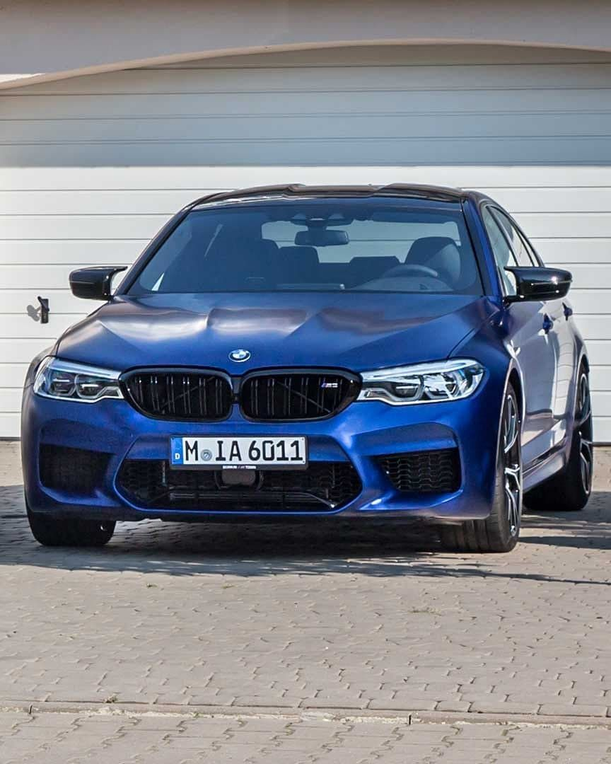 Bmw F90 M5 Competition In Frozen Marina Bay Blue Metallic With
