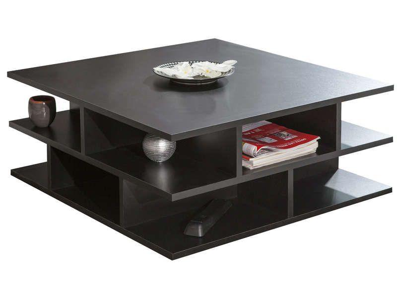 Table Basse Carree 70 Cm Multi Coloris Noir Vente De Table Basse Conforama Table Basse Table Basse Carree Table Basse Conforama