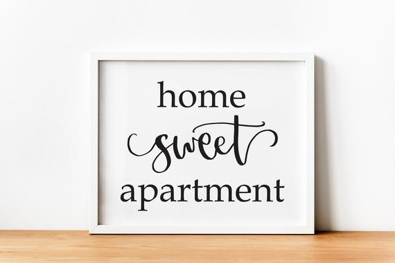 Home Sweet Apartment Entryway Printable Welcome Print