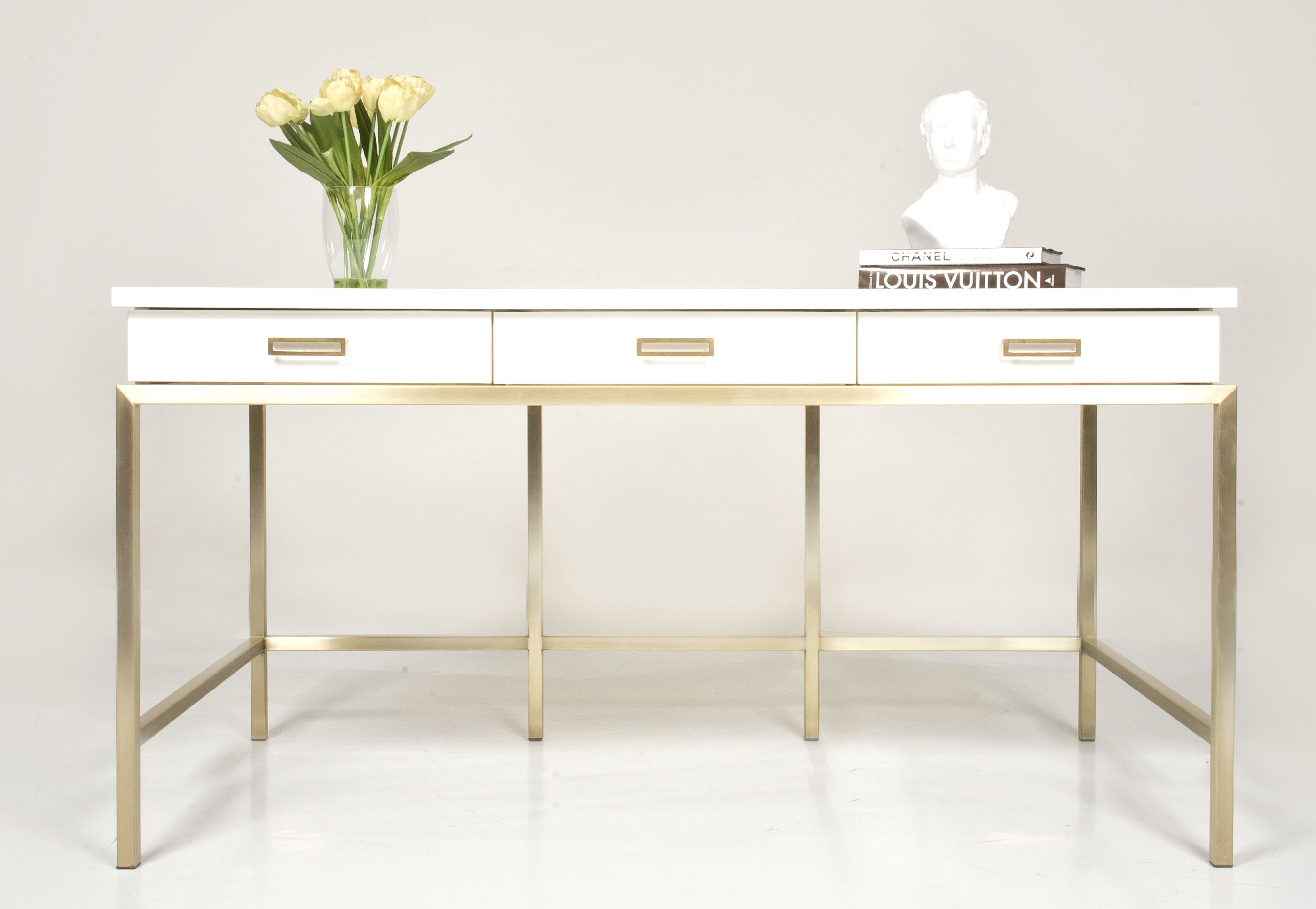 Margaux Lacquered Writing Desk Small Office Furniture Writing Desk Modern Writing Desk Design