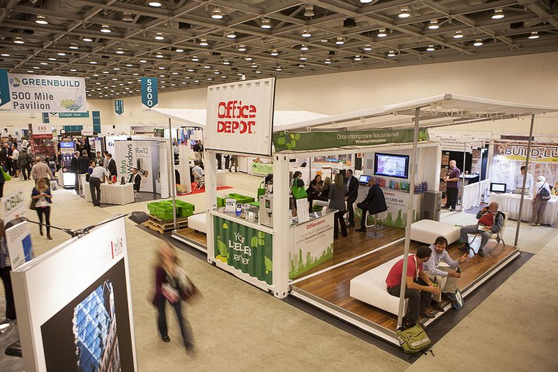 We like this Office Depot Trade Show Booth made from shipping - office depot