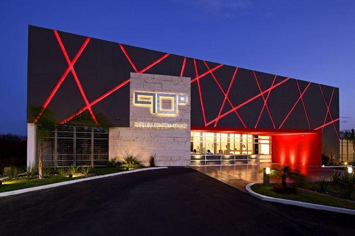 Proyectos lum nica iluminaci n fachadas comercios for Arquitectura minimalista edificios