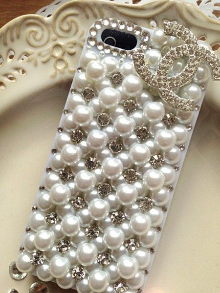 Etui Iphone 5s Big Pearl Diamond Handmade Big Pearl Pearl Diamond Iphone 5s